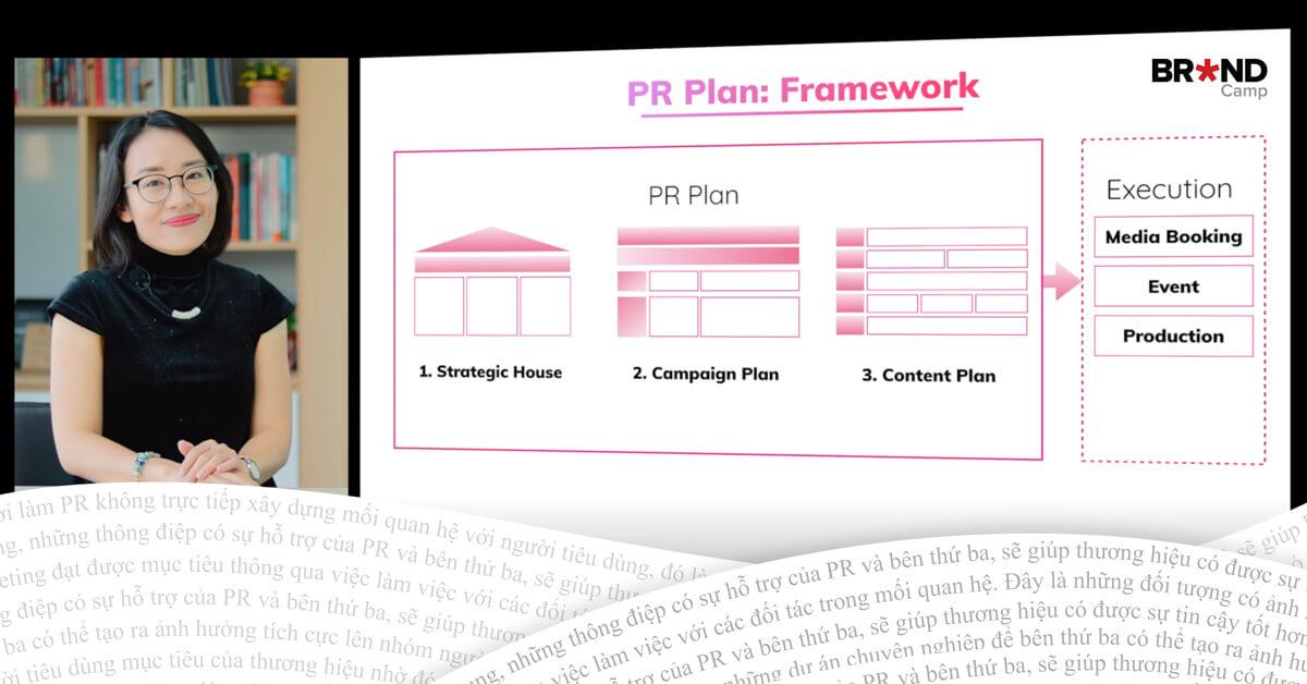 Framework để xây dựng PR Plan tiêu chuẩn