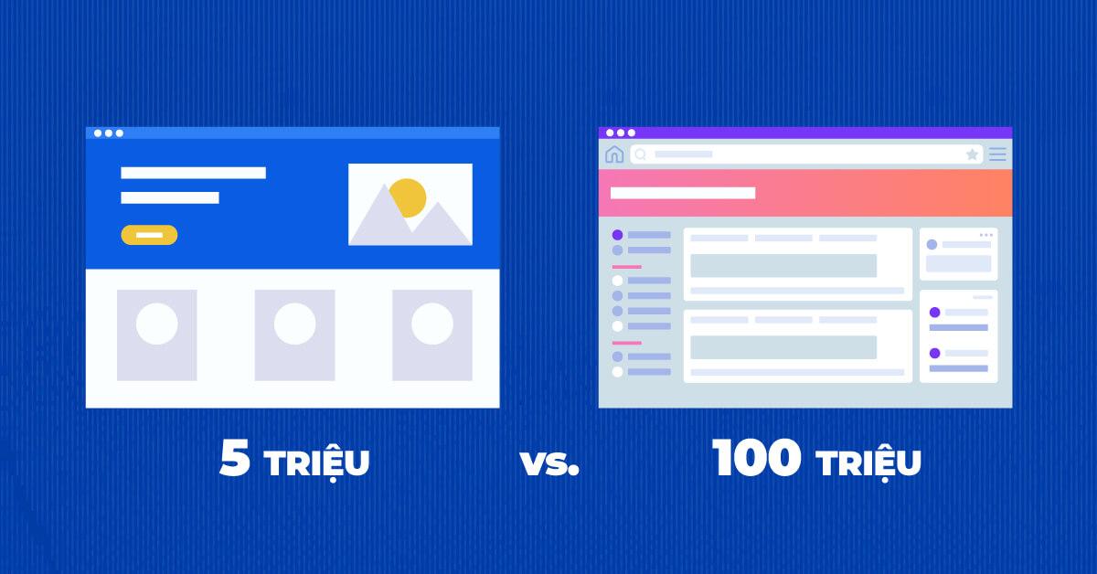 Website vài triệu và Website trăm triệu khác nhau như thế nào?